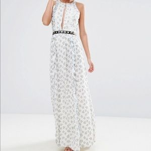 True Decadence Printed Floral Maxi Dress Size 12